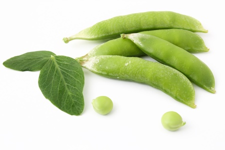 Pea pods and leaves