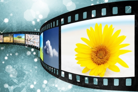 film editing: Old film of abstract background Stock Photo