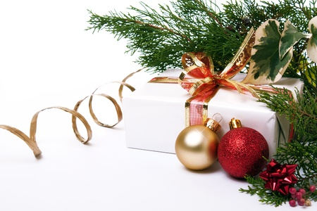 Christmas package Stock Photo