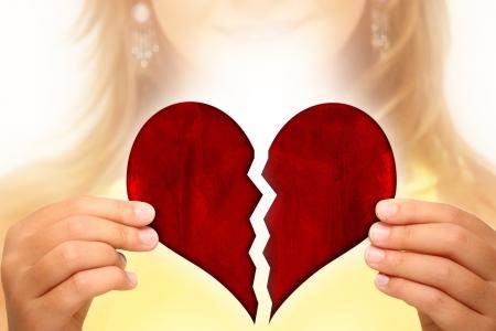 decepción: Corazón roto Foto de archivo