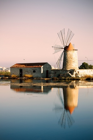 trapani: Trapani - Saline Stock Photo