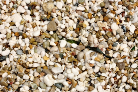 Sfondo del tipo di pietra spiaggia ghiaiosa