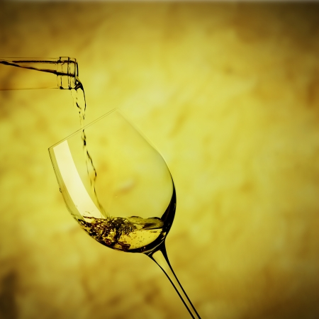 Towards a glass of white wine