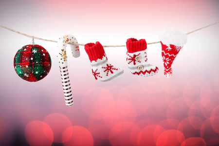 arrives: Christmas decorations hanging by a thread #2 Stock Photo