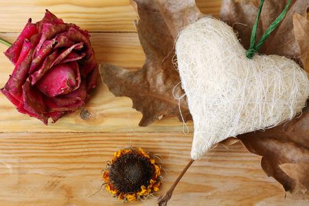 Herz-und Blumen Lizenzfreie Bilder