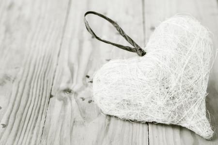 Straw heart black and white