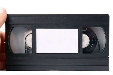 Movies on old tape Stock Photo