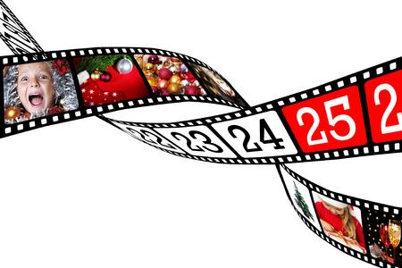 Dieser Film ist verflochten mit Bildern von Weihnachten Lizenzfreie Bilder