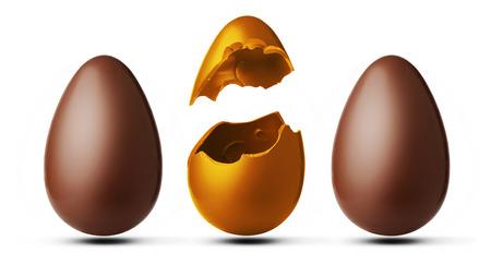 Drei Schokoladeneier