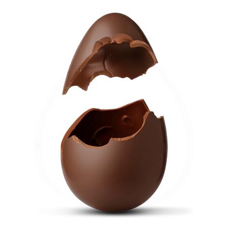 Chocolate egg Standard-Bild