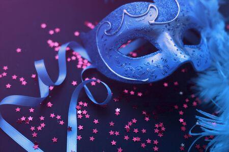 Beautiful masks on dark