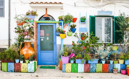 Mediterranean colorful garden house Reklamní fotografie