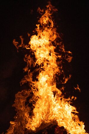 Fire and flames, abstract effect