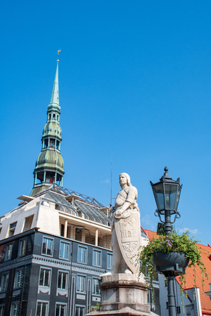 Beautiful view of Riga Medieval Old Town, vertical