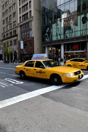 Yellow taxy in New York