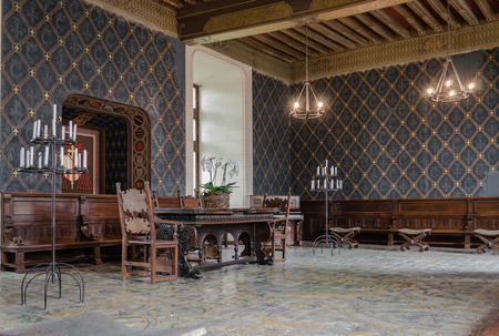 Living room in the castle of Chaumont sur Loire - France