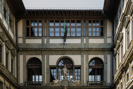 florence italy: Old Palace in Florence - Italy Editorial