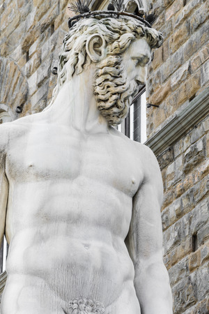 neptuno: Estatua de Neptuno - Florencia - Italia
