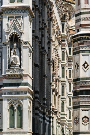 romanesque: Detail of Cathedral of Florence - Italy