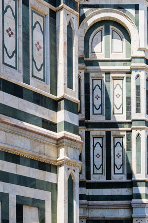 italy landscape: Detail of Cathedral of Florence - Italy