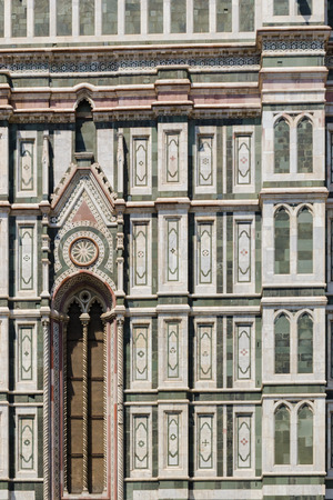 florence   italy: Detail of Cathedral of Florence - Italy