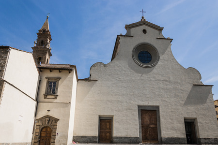 santo: Cathedral of Santo Spirito - Florence - Italy Stock Photo
