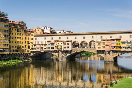 romanesque: Old bridge in Florence - Italy Stock Photo