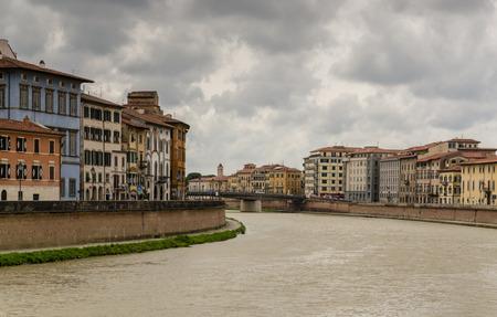 river arno: View of river Arno in Pisa - Italy