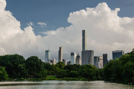 View of skyscraper from Central Park - New York - Usa