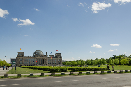 View of Parliament of Berlin in a sunny day - Germany Editorial