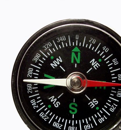 partial shot of compass Stock Photo