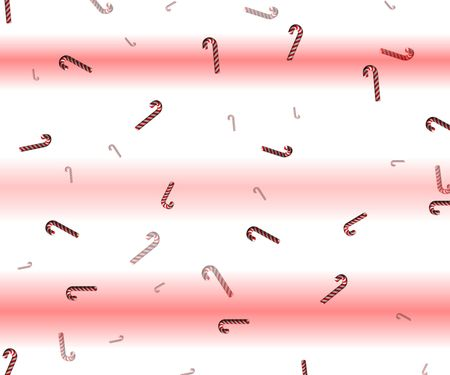 candy canes appear to be falling on a background of red and white stripes