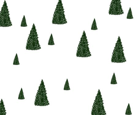 Christmas trees on white background. Stock Photo