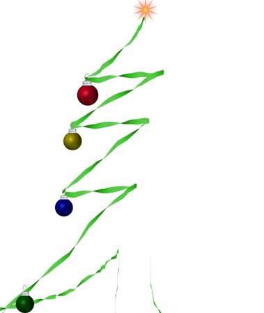 A simple illistrated Christmas tree using Crepe paper in paint shop pro Stock Photo