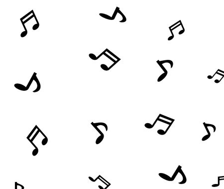 musical notes on plain white background non tiled Stock Photo