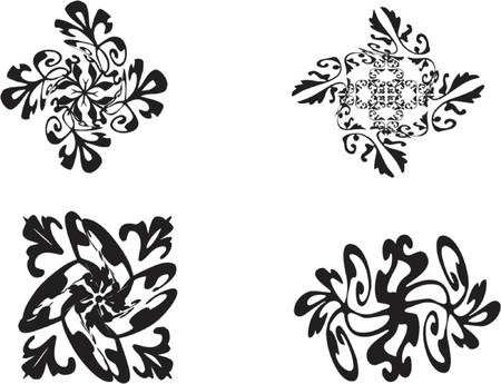 vector illustration twisted ornaments