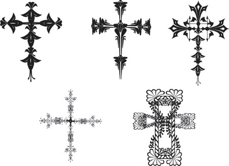 celtic cross vector illustrations