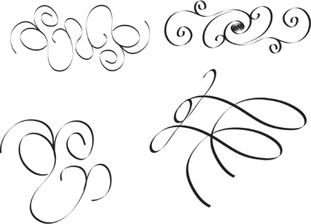 swirl vector illustrations