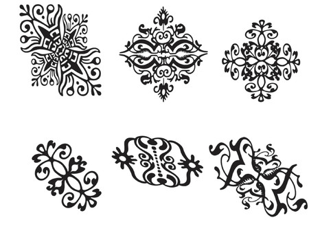 vector illustration  ornaments