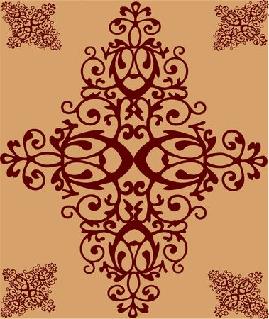 crafty: Victorian style vector background graphics illustration for web-pages, backgrounds, scrap-booking, stationary and more Stock Photo