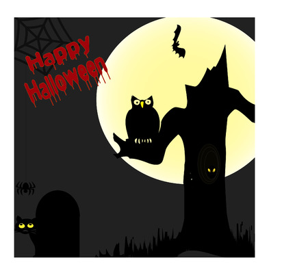 Happy halloween scene Illustration