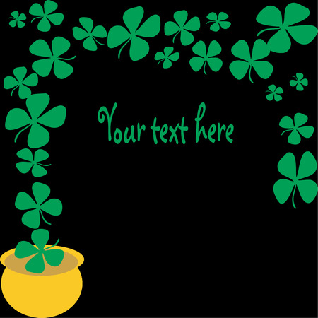 lucky day: Lucky Day vector four leaf clover frame