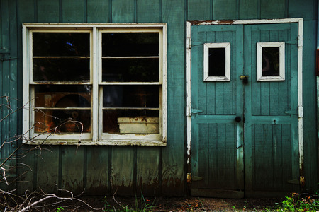 Abandoned Shed Shack with Window and Door