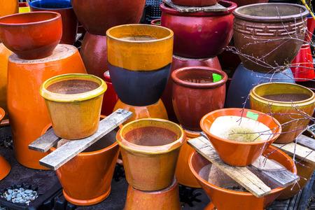 plant pots: Outdoor colorful ceramic plant pots