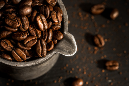 Coffee beans in the early morning light Stock fotó