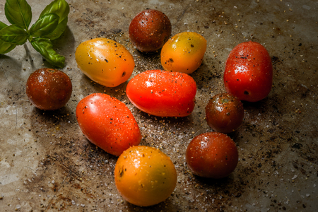 bounty: Multi-colored grape tomatoes