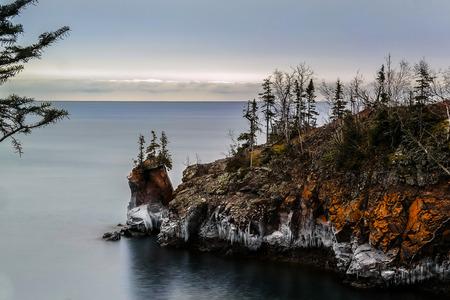 Shovel Point Tettegouche State Park Reklamní fotografie