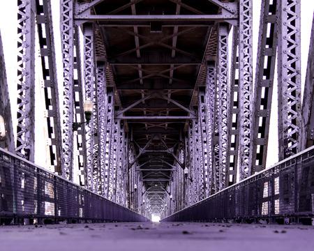 Double decker vehicle bridge turned pedestrian bridge