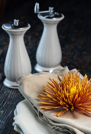 Glowing Autumn Flower Table Top