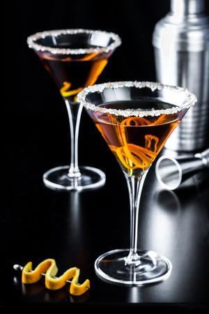 Orange Citrus Martini with Shaker Banco de Imagens